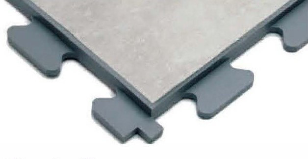 An image of a grey tile from the R-Tile Design collection.