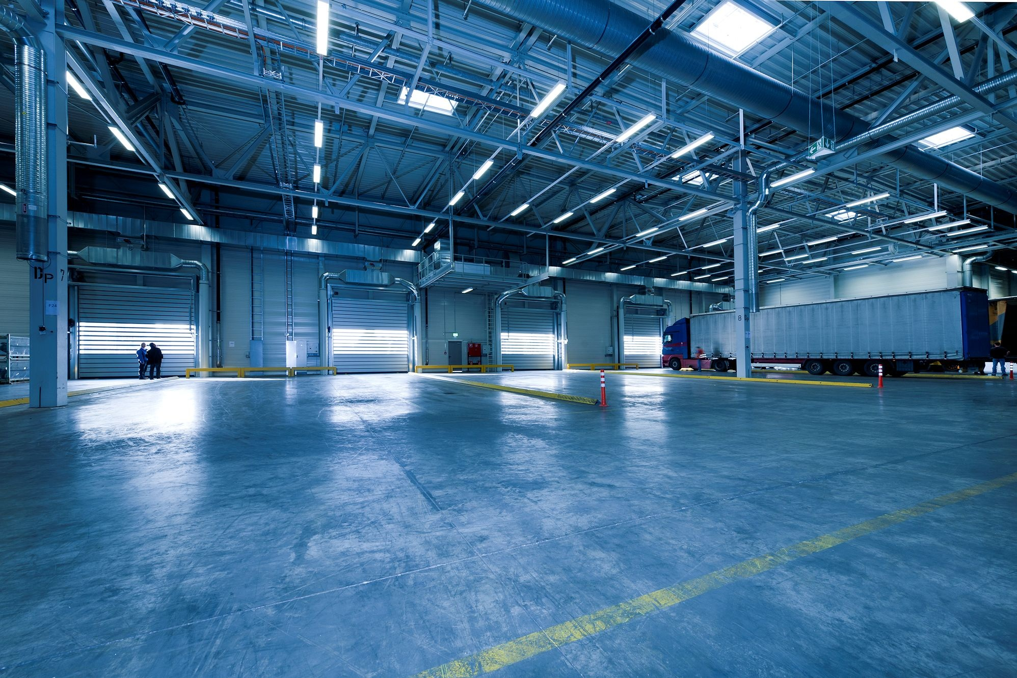 An image of an industrial space that requires floor safety graphics.