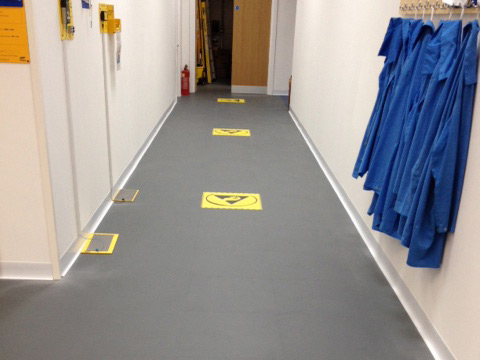 An image of ESD Flooring supplied and installed by Relay Floor Systems Ltd.